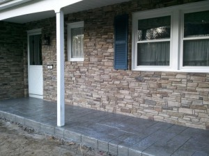 brick front house after